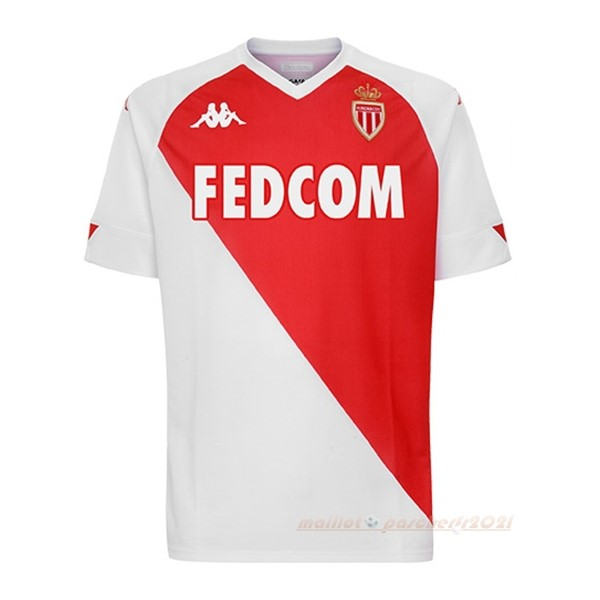 Domicile Maillot AS Monaco 2020 2021 Rouge Blanc Site Maillot De Foot