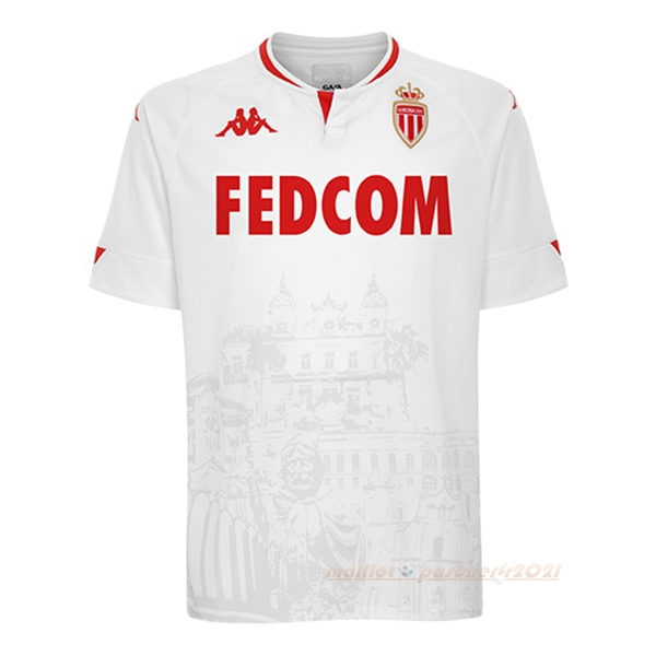 Third Maillot AS Monaco 2020 2021 Blanc Site Maillot De Foot