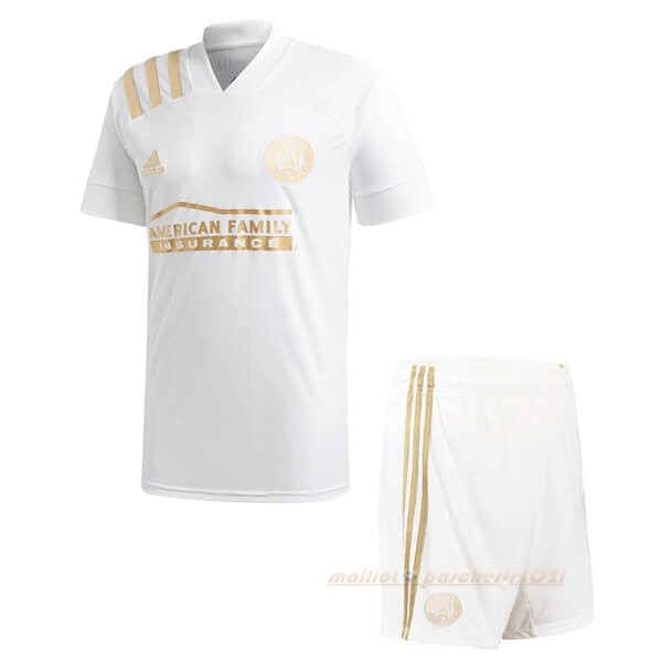 Exterieur Ensemble Enfant Atlanta United 2020 2021 Blanc Site Maillot De Foot