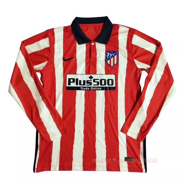 Casa Manga Larga Atlético Madrid 2020 2021 Rouge Site Maillot De Foot