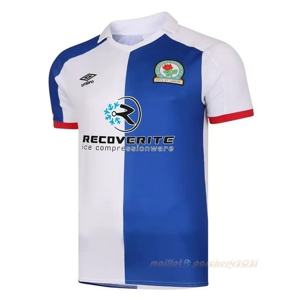 Casa Camiseta Blackburn Rovers 2020 2021 Bleu Site Maillot De Foot