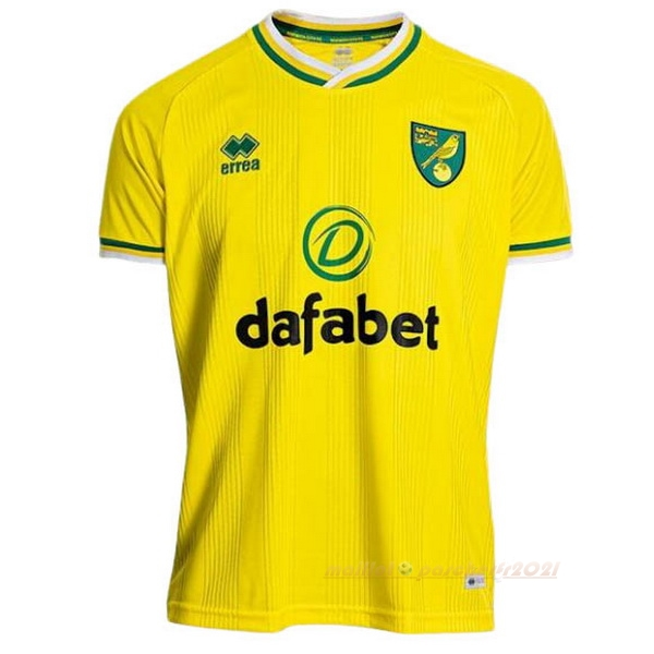 Domicile Maillot Norwich City 2020 2021 Jaune Site Maillot De Foot