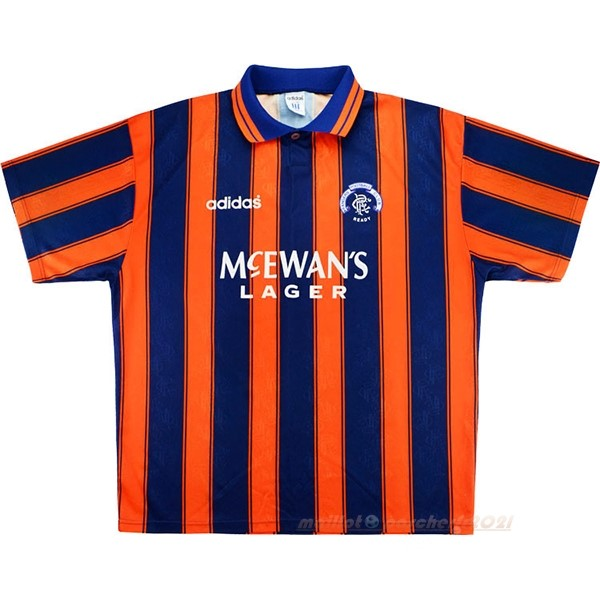 Segunda Camiseta Rangers Retro 1993 1994 Orange Site Maillot De Foot
