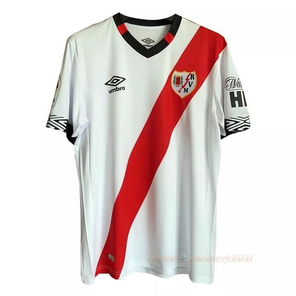 Casa Camiseta Rayo Vallecano 2020 2021 Blanc Rouge Site Maillot De Foot