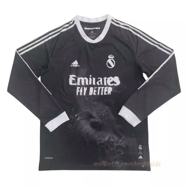 Human Race Manga Larga Real Madrid 2020 2021 Noir Site Maillot De Foot