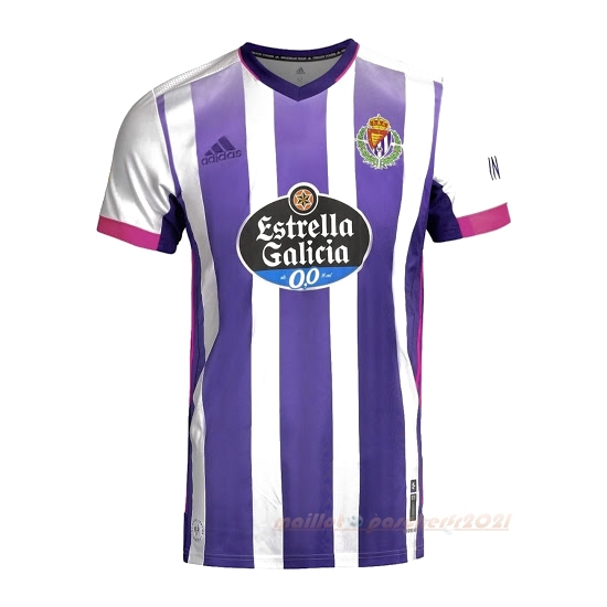 Domicile Maillot Real Valladolid 2020 2021 Blanc Purpura Site Maillot De Foot